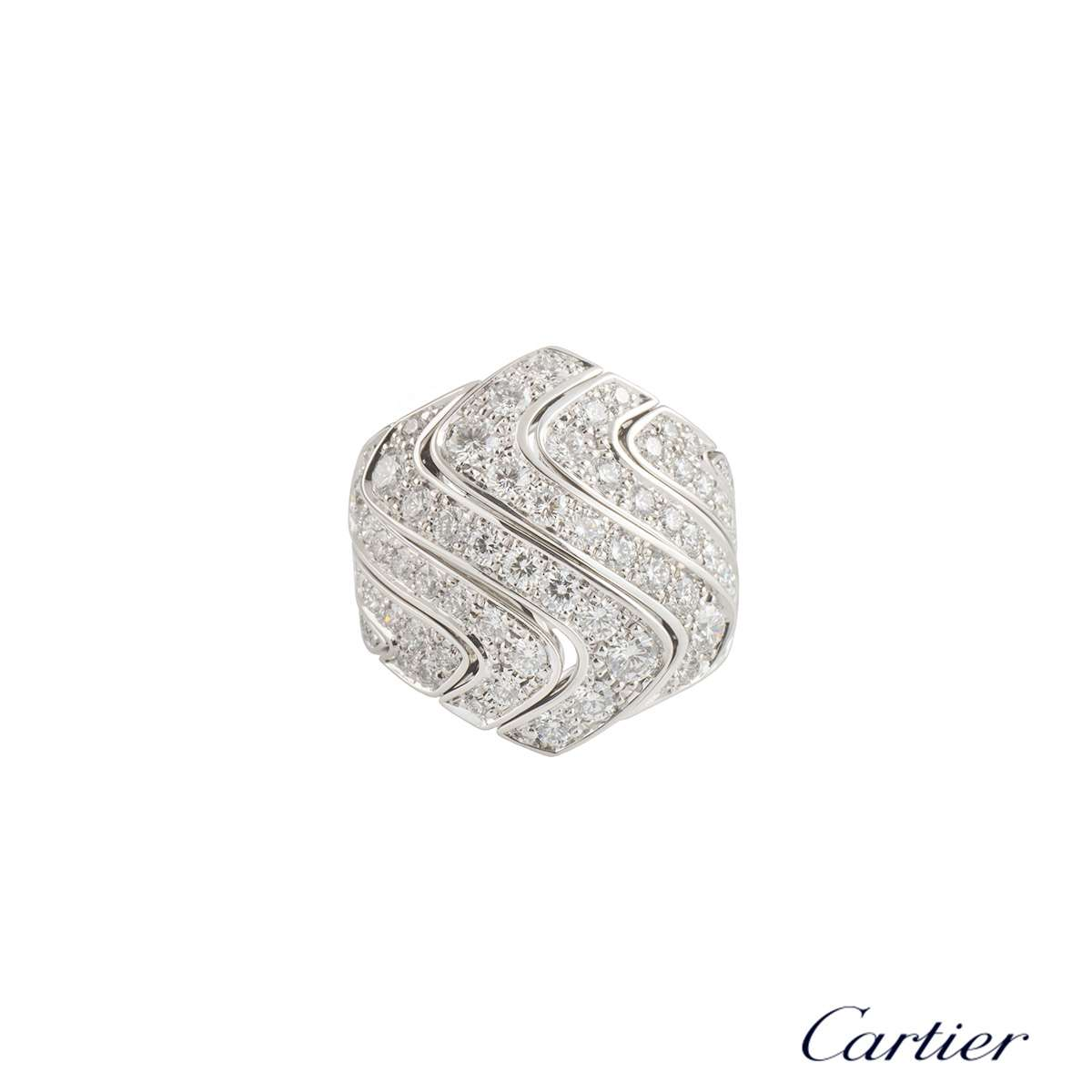 Cartier White Gold Diamond Dress Ring 2.47ct F+/VS+